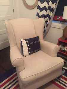 Pottery Barn Wing Chair / rocking chair