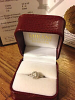 Halo Engagement Ring with Appraisal Report
