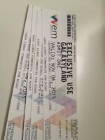 West Edmonton Mall Galaxyland admission tickets