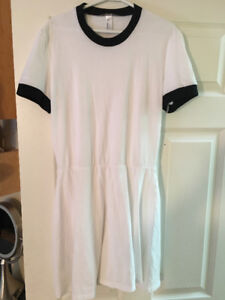 AMERICAN APPAREL White T-shirt Dress for sale