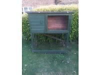 Wooden animal rabbit cage hutch outside guinea pig garden large