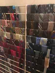 Huge lot of men's ties. 100+ ties and a few clip on for kids