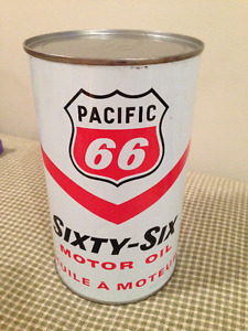 Pacific 66 Canadian Motor Oil Quart Can (Mint Condition)!!!