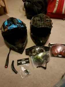 2 509 winter helmets for snowmobile/motorsports, and goggles