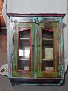 Colourful Wall Display Cabinet