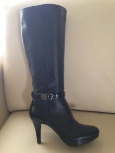 Bandolino Black Leather Dress Boots - Size 5.5