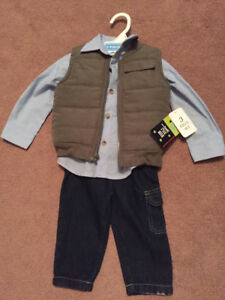 Three Piece Boys Outfit - 12 months, brand new!!