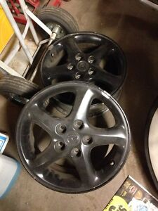 16x6 Mazda aluminum rims Kitchener / Waterloo Kitchener Area image 1