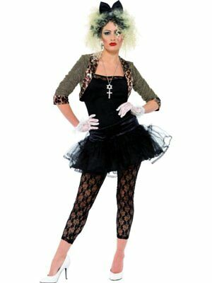 80s 1980s Pop Wild Child Music Fancy Dress Costume Madonna XL 20-22 Smiffys New - 80s Music Costumes