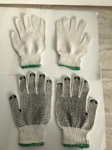 Cotton Labour Gloves / Working Gloves / dotted Latex Gloves $0.6