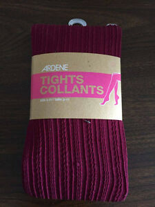 Ardene - Tights - Size Small to Medium - Pink/Raspberry Colour