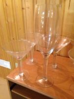 Oversized Martini Style Glasses