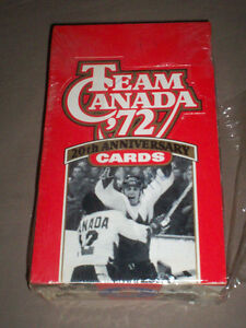 SEALED BOX OF 1972 CANADA CUP HOCKEY TRADING CARDS
