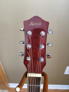 Baron Acoustic Guitar + Accesories