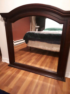 Miroir en bois massif très grand