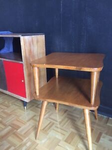 Mid century teak sideboard and side tables
