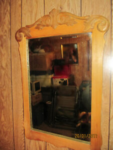 Solid Oak Antique Mirror