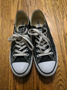 Black Converse shoes 239f5d736