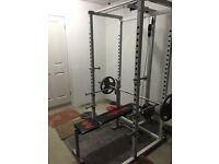 Squat Cage plus Bench plus Olympic Weights