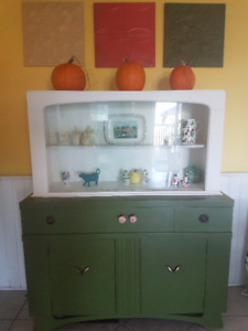 1950s China Cabinet 1pc Buffet Hutch Vintage Kitchen Dining Room