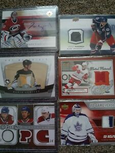 HOCKEY CARDS >RC's, AUTO's, JERSEYS, etc (40 TO 50% OFF)
