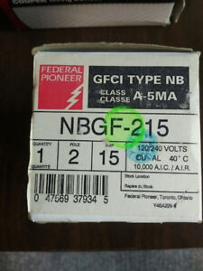 Federal Pioneer GFCI 2 pole 15 amp bolt on breaker