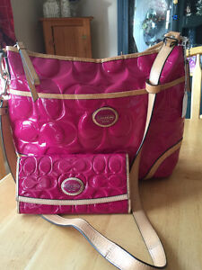 Coach cross body and wallet set