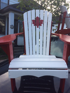 New Handcrafted/Painted Adirondack Chair