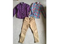 Boys clothes size 10. Trouser and shirts. Job lot.