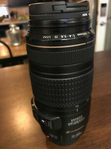 Canon EF 70-300mm f/4-5.6 IS USM essentially brand new