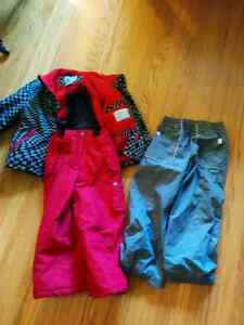 Red and Grey London Fog snow suit with extra pants. Size 5