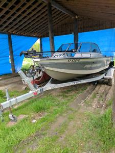 1998 pro fisherman mirrocraft aluminum boat 171/2 ft