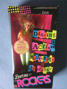1986 Dancing Action Rockers Diva doll Mattel # 3159