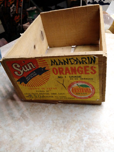 Wooden mandarin orange crate