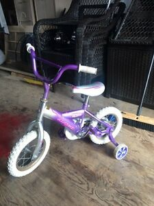Girls Bike with training wheels