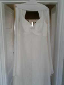 Ivory Wedding Dress with shawl Size 18