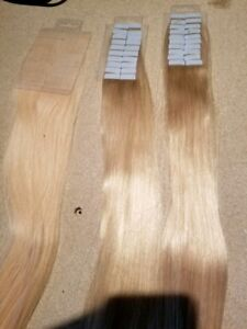Tape In Extensions Remy Hair Blond 22/ Rallonges adhésive blond