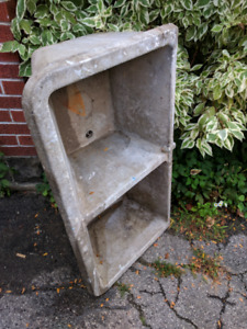 Antique sopastone laundry sink and facuet