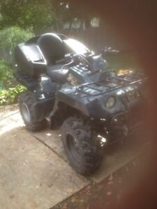 600 grizzly 4x4 with winch and back rest 3200 obo