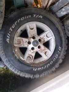 Rims and tires off a 2003 f150 $150 obo