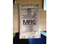 Military MRE Menu 21 collectables