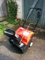 "Murray 12amp 20"" electric snow blower"