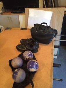 Women's bowling balls and shoes