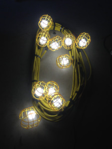 100 Feet of Stringed Lighting (10 Sockets) -- High Quality