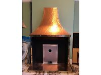 Vintage Copper effect fireplace and hearth