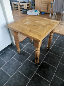 Kitchen table. Dining table solid oak