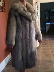 Norwegian fox fur coat