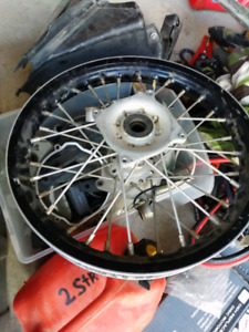 KTM 85 Wheel set 17/14 with Z Billet Hubd and stainless spokes