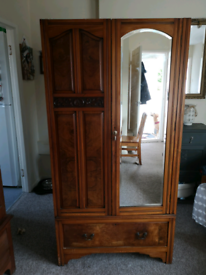 Antique Hallway Wardrobe with drawer