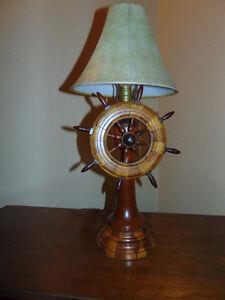 VINTAGE LAMP BASE 1950,s SOLID WOOD 24 IN.